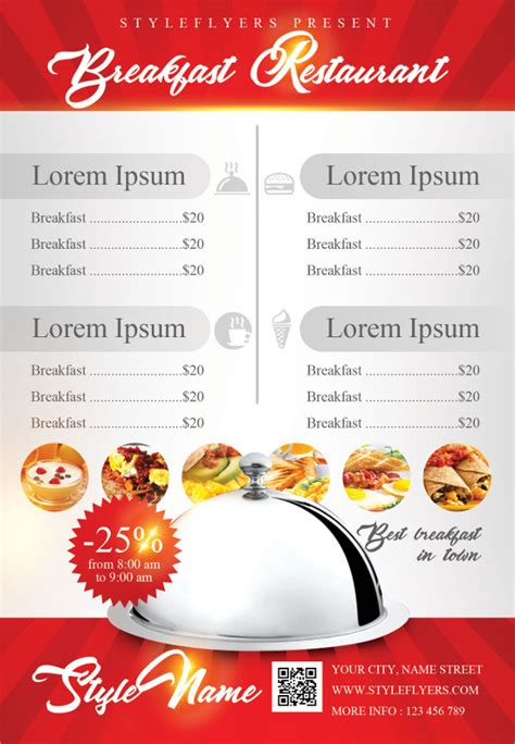 breakfast menu templates breakfast menu templates 17 free psd ai eps vector