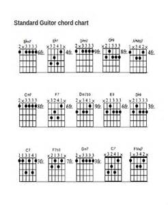 guitar template 13 guitar chord chart templates freesle exle