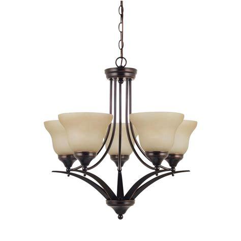 sea gull lighting brockton 5 light burnt chandelier