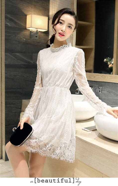 Dress Putih dress putih brokat motif cantik myrosefashion