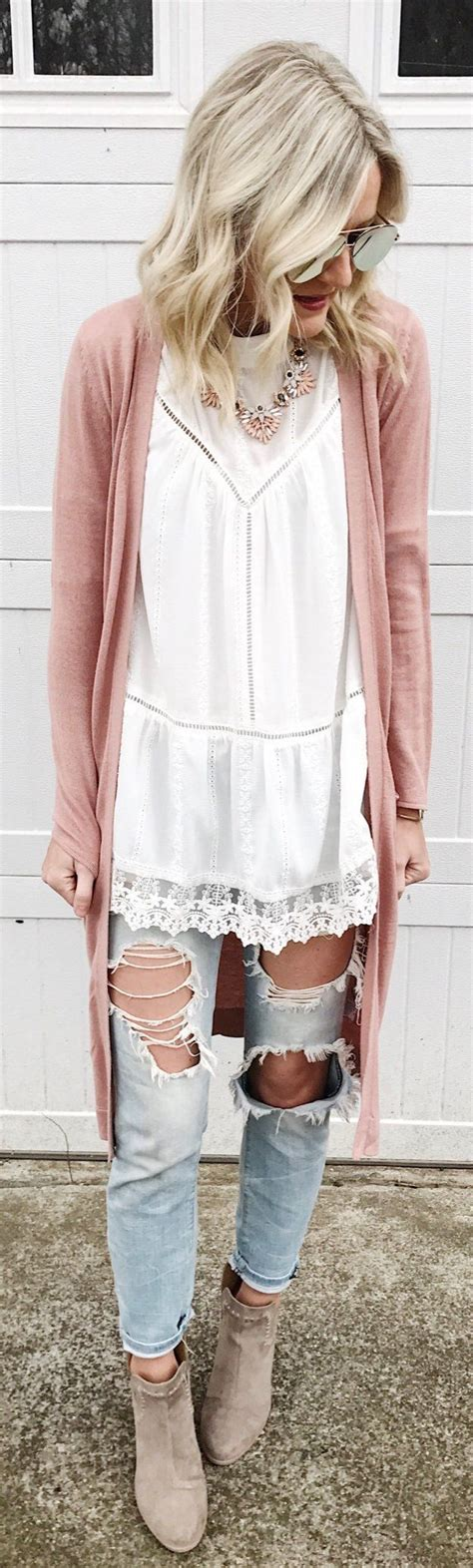 Destroyed Denim Slip On In Pink 1000 ideas about maxi cardigan on work