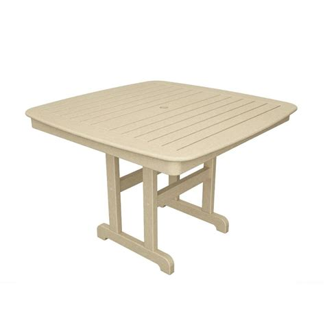 The Bay Dining Table Hton Bay Jackson 44 In Patio Dining Table 8034400 0105157 The Home Depot