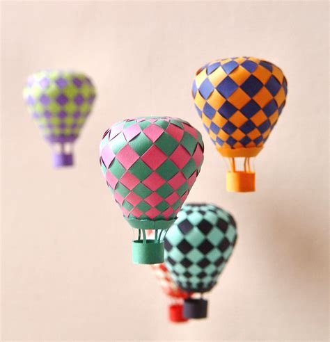 Origami Balloons - beautiful balloon paper craft papermodeler