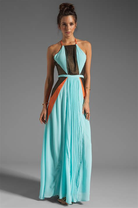 Maxy Is lyst suboo pleated maxi dress in mint in green