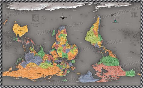 cool maps cool color world map reversed map