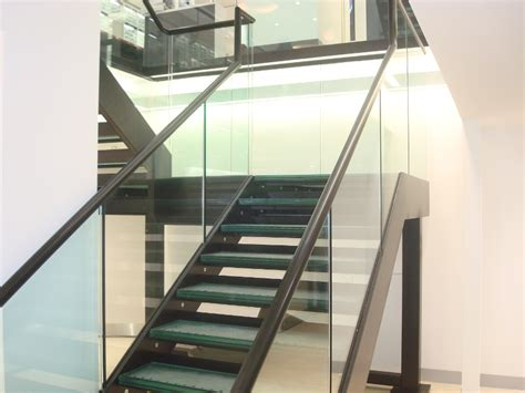 Glass Handrails For Stairs Vision Express Staircase Letchworth Steel Metalwork