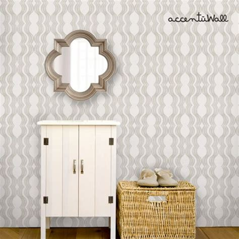 peel and stick wallpaper wave grey peel and stick fabric wallpaper repositionable