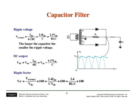 what is capacitor ripple current electronic devices and circuit theory 10th ed boylestad chapter 15