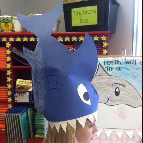 How To Make A Paper Shark Hat - 70 best preschool images on sharks