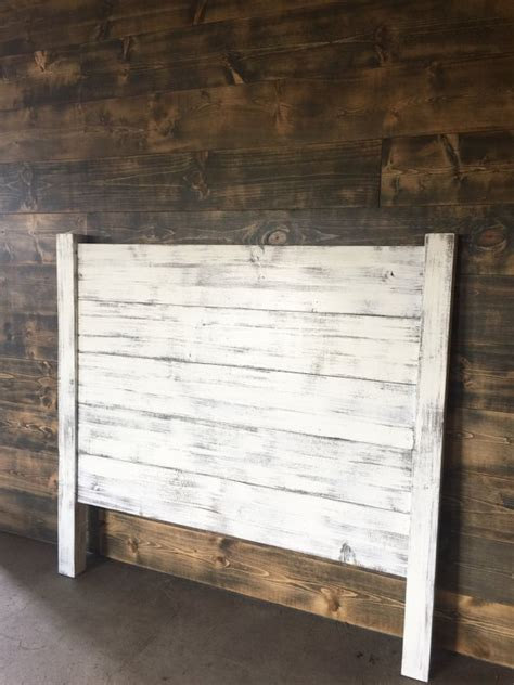 Distressed White Headboard by Shiplap Headboard Distressed White