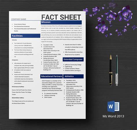 fact sheet template free 8 free fact sheet templates survey caign free