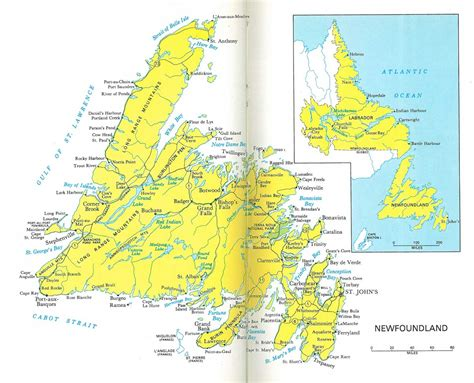 newfoundland map newfoundland labrador map 1966 philatelic database