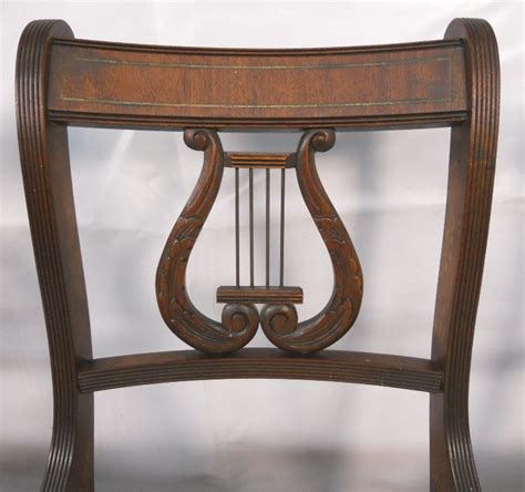 Sold Set Of Six Antique Regency Style Mahogany Harp Back Antique Dining Chair Styles