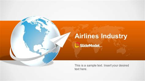Airlines Industry Powerpoint Template Slidemodel Airline Ppt Template