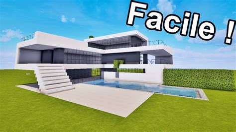maison ultra moderne facile 192 faire sur minecraft tutoriel