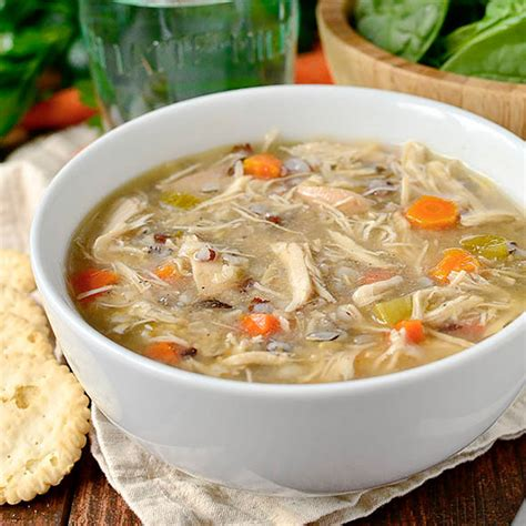 crock pot chicken and wild rice soup healthy crock pot recipe