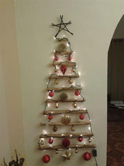decorar pared para navidad 193 rbol de navidad de pared colgante de madera christmas