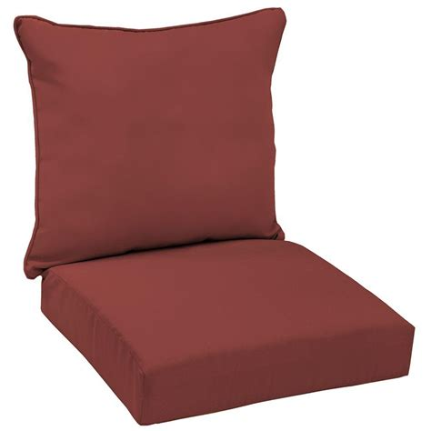 outdoor seat cushions hton bay chili solid welted 2 seating