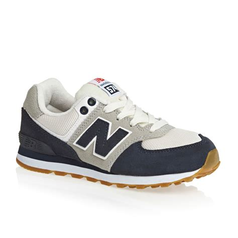 new balance sneakers new balance 574 lace shoes navy white grey free
