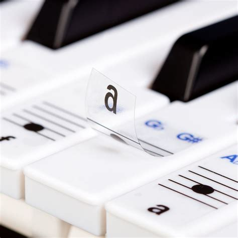 piano and keyboard note stickers new keysies transparent plastic removable piano and