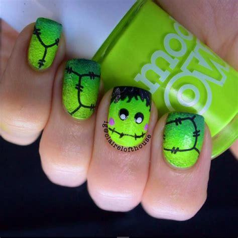 halloween frankenstein nail art the best halloween nail art ideas photo 1