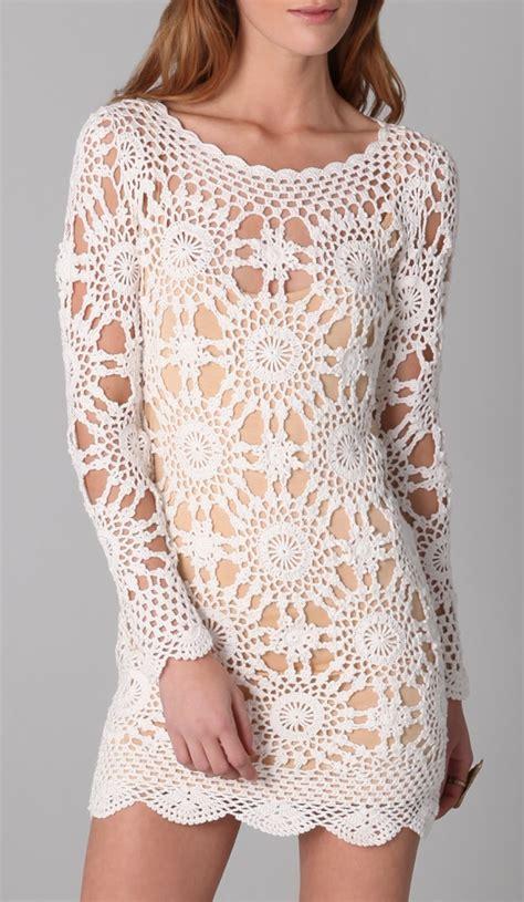 Trendy Dress Pattern Sexy Beach Wedding Crochet Dress