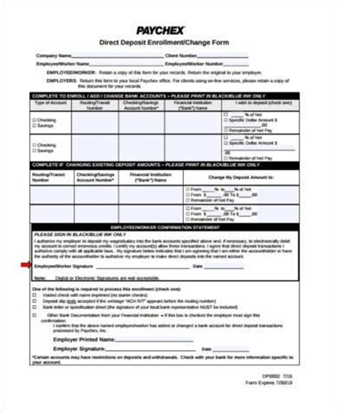 When Should I Submit Deposit For Mba With Visa by Printable Direct Deposit Form Sles 8 Free Documents