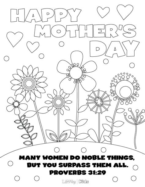 mothers day pictures to color s day coloring pages