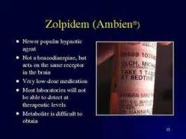 Ambien Detox Symptoms by Zolpidem