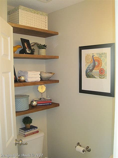 diy bathroom shelving ideas remodelaholic 25 great diy shelving ideas