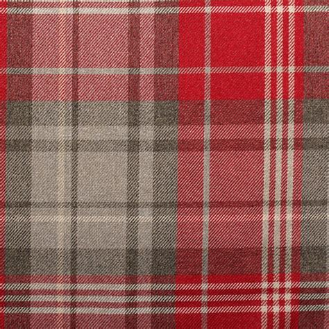 check fabric sofa classic design soft tartan large check faux wool