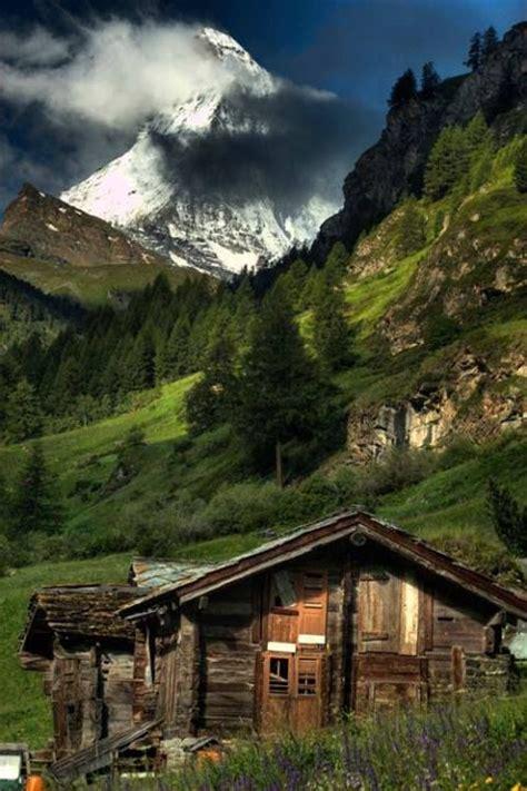 Switzerland Cabin cabin the alps switzerland beautiful world