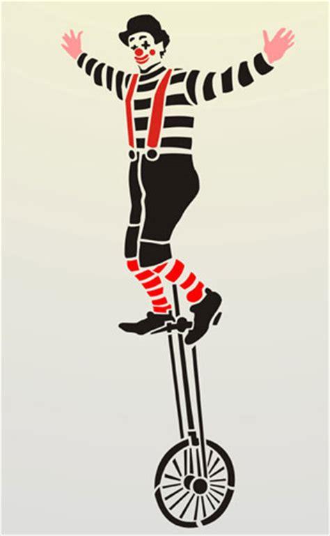Design Your Home clown on mono cycle figure stencil design from stencil kingdom