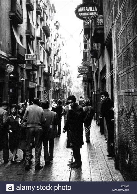 barcelona chion barrio chino el raval in barcelona 1964 stock photo