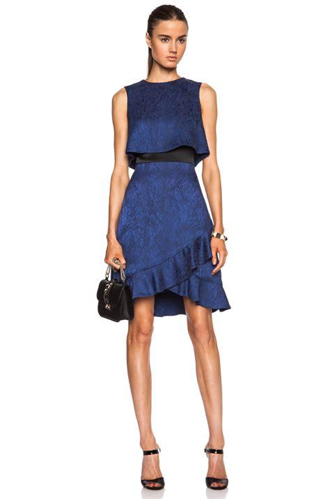 Topshop Acetate Dress by Lyst Prabal Gurung Ruffle Cropped Top Acetate Blend