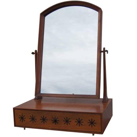 Tabletop Vanity Mirror by Walnut Tabletop Vanity Mirror By Kipp Stewart For
