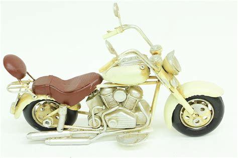 dekoratif metal motosiklet krem mnkhomecom
