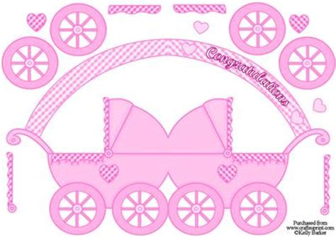 Baby Carriage Card Template by Pram Shaped Card Baby Cup612147 1028 Craftsuprint
