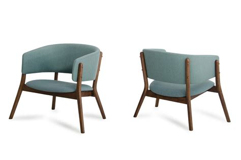 dante modern blue fabric walnut accent chair set of 2