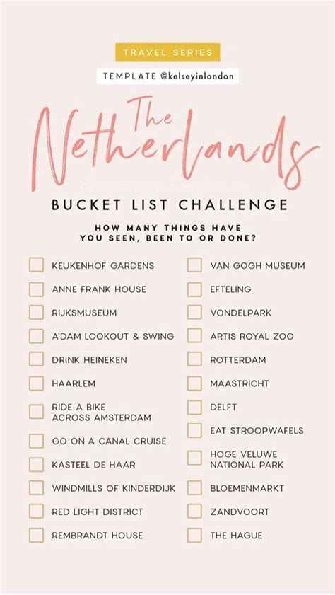 netherlands bucket list travel list travel