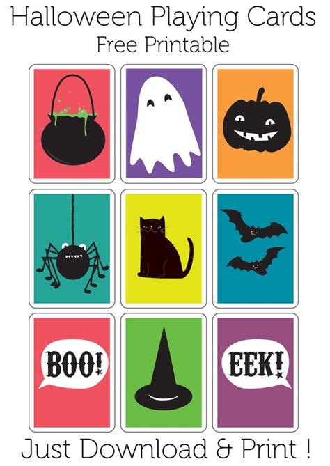 printable halloween card games play a game of haunted snap with these halloween playing