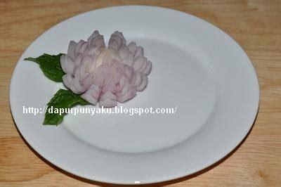 Pisau Garnish cara membuat garnish bentuk bunga krisan dari bawang