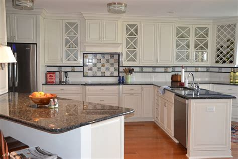 Countertops For White Kitchen Cabinets Beautiful White Kitchen Cabinets With Granite Countertops Mykitcheninterior