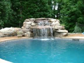 how to build a waterfall into a pool swimming pool waterfalls features that make your pool