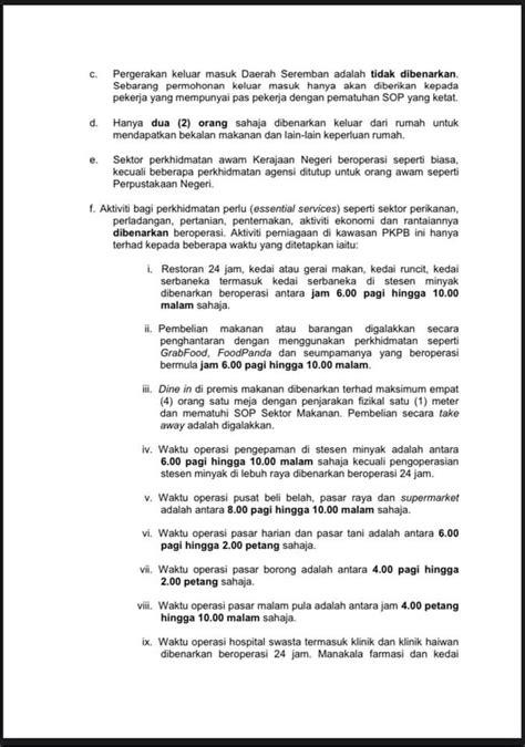 PKPB Di Seremban, Negeri Sembilan Mulai 5 November Ini