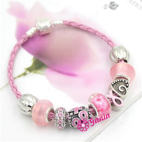 breast cancer bead bracelets newest breast cancer awareness jewelry european bead pink