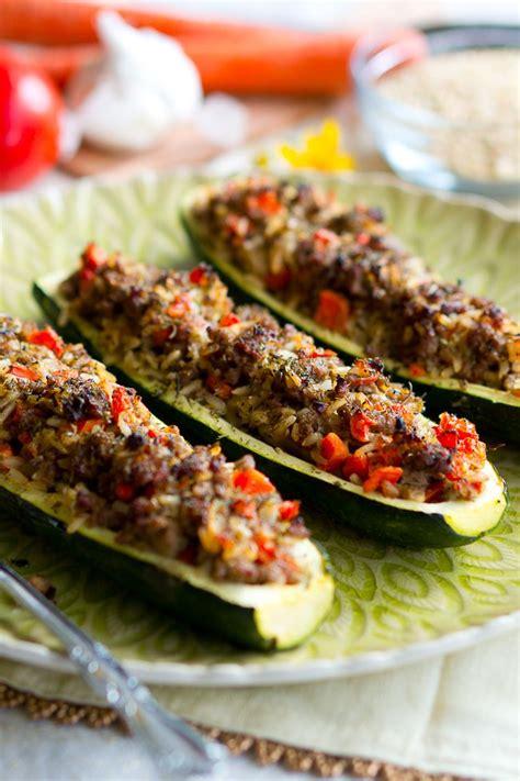 how to make stuffed zucchini boats stuffed zucchini boats with garlic sauce delicious meets