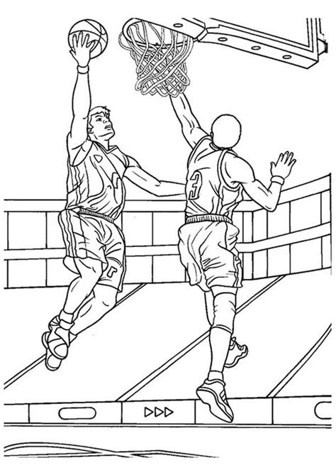 coloring pages nba players basketball player coloring pages getcoloringpages com