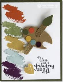 video work of art artist palette stampin up