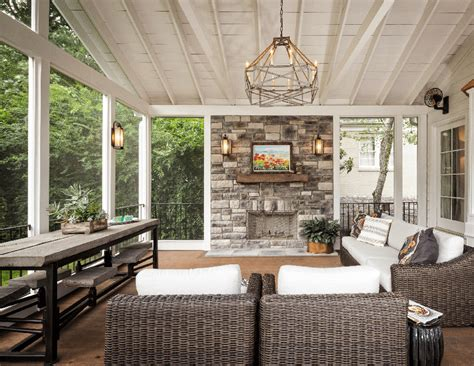 fireplace on screened porch apartment porch screen cannon hill residence traditional